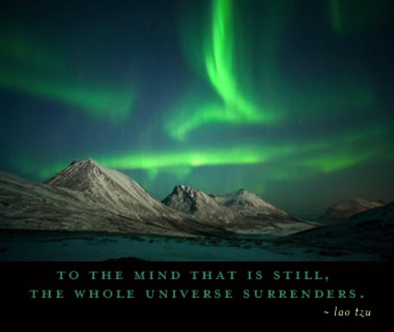 Beschreibung: em Geist, der still geworden ist, übergibt sich das ganze Universum