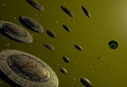 Beschreibung: http://www.7stern.info/Bilder_UFO/Raumschiff-Flotte_Zeichnung.jpg