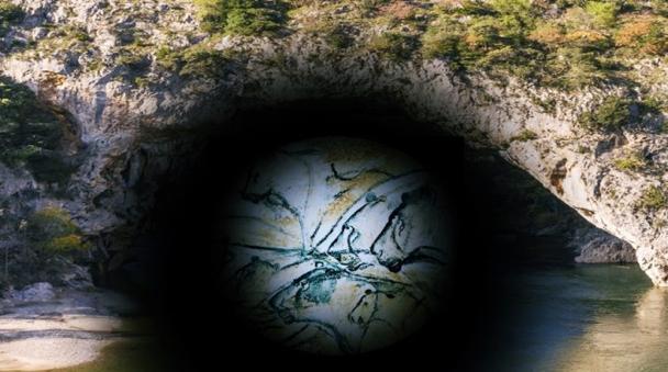 Beschreibung: hauvet Höhle Fluss Ardeche Frankreich Höhlenmalereien
